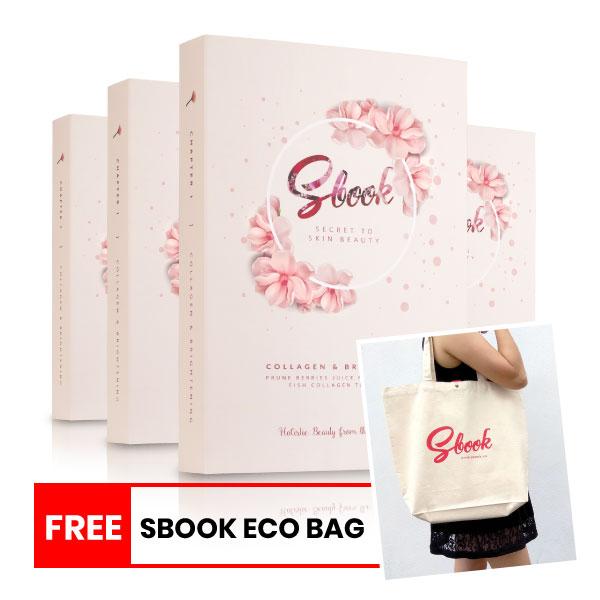 SBOOK Collagen & Brightening Value Pack Combo (120 sachets)